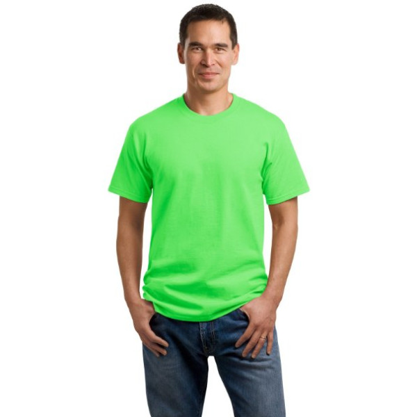 Port & Company 54oz 100% Cotton T-shirt-S (Neon Green)