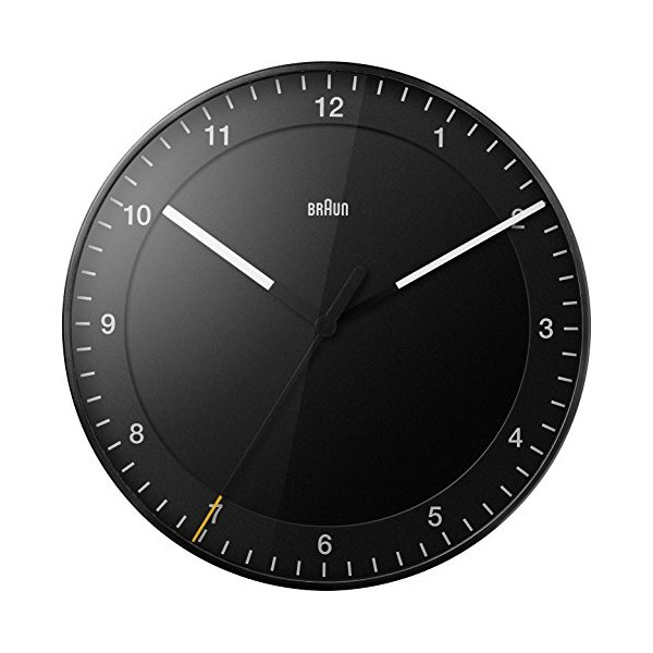 Braun BNC017 Wall Clock Black 30cm