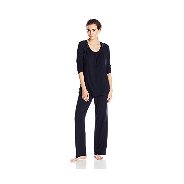 Midnight by Carole Hochman Women's Modal Packaged Pajama Set, Midnight, Small