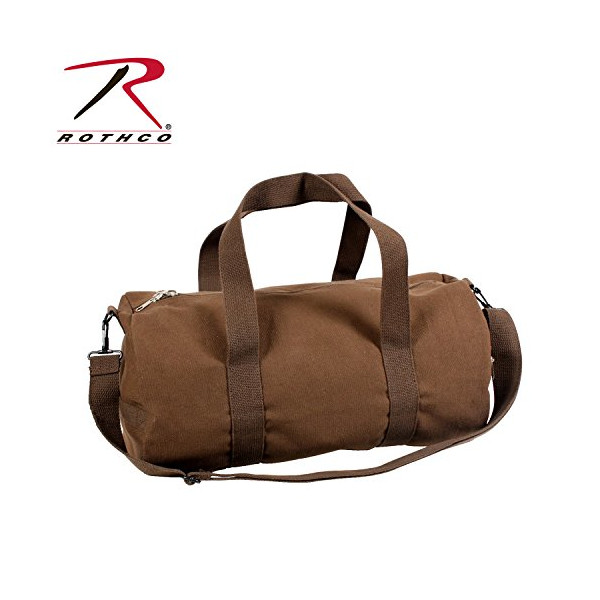 "Rothco Canvas Vintage Shoulder Bag, Earth Brown, 19"""