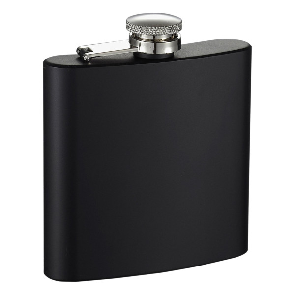 "Visol ""Raven"" Stainless Steel Flask, Black"