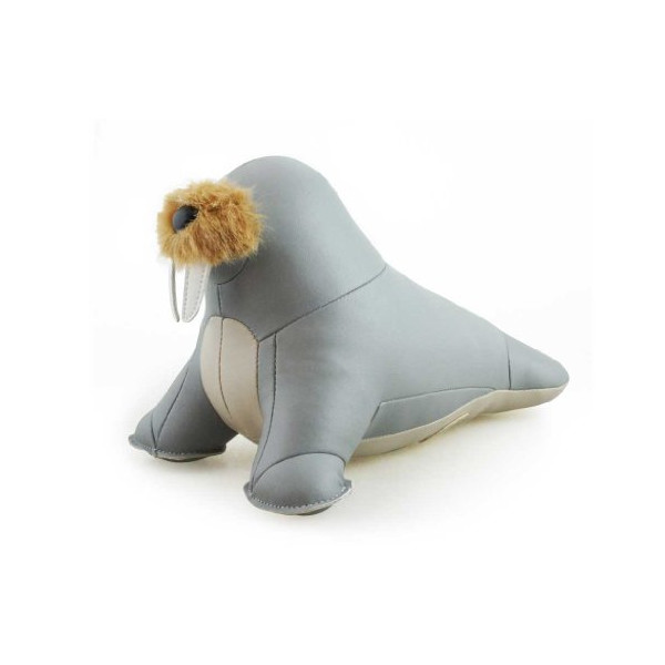 Zuny Series Walrus (Walu) Gray Animal Bookend