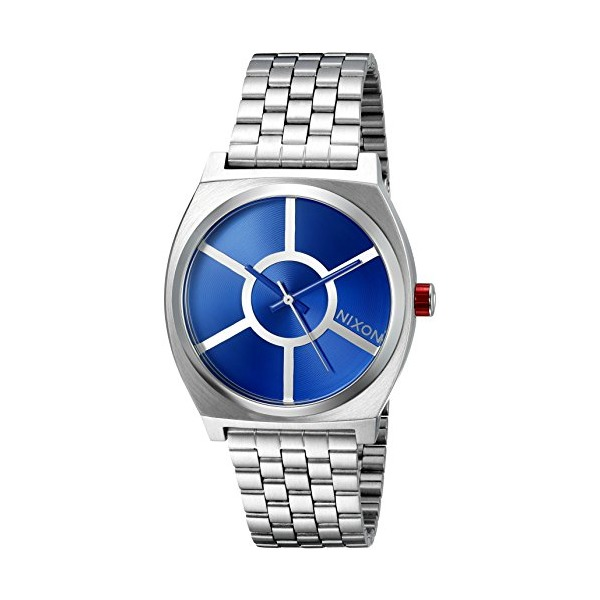 Nixon Men's Time Teller SW, R2D2 Blue Stainless Steel Bracelet Watch