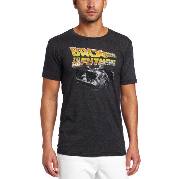American Classics Men's Back To The Future Car Soft Tee, Charcoal, Large