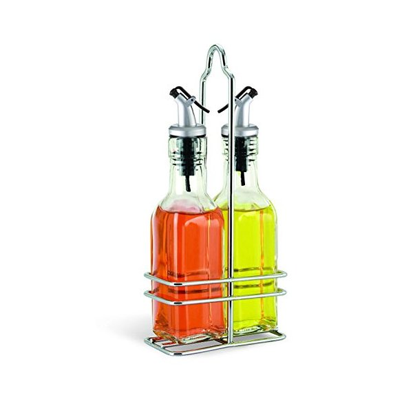 Cuisinox Oil and Vinegar Cruet Set with Caddy, Silver