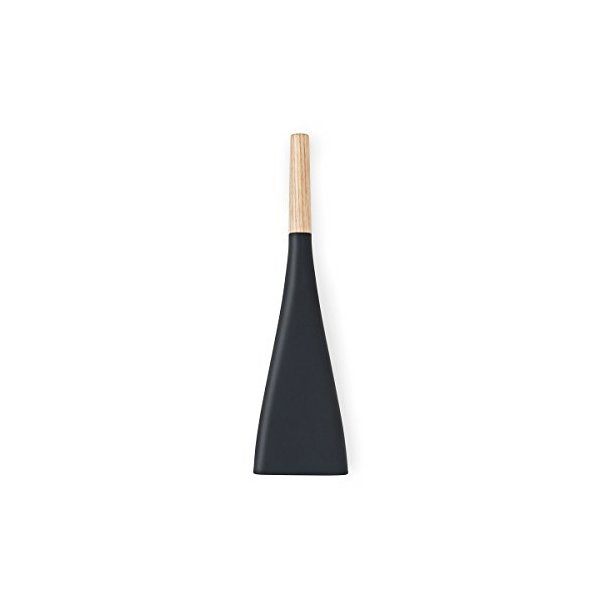 Modern Silicone Fly Swatter with Scoop, Black