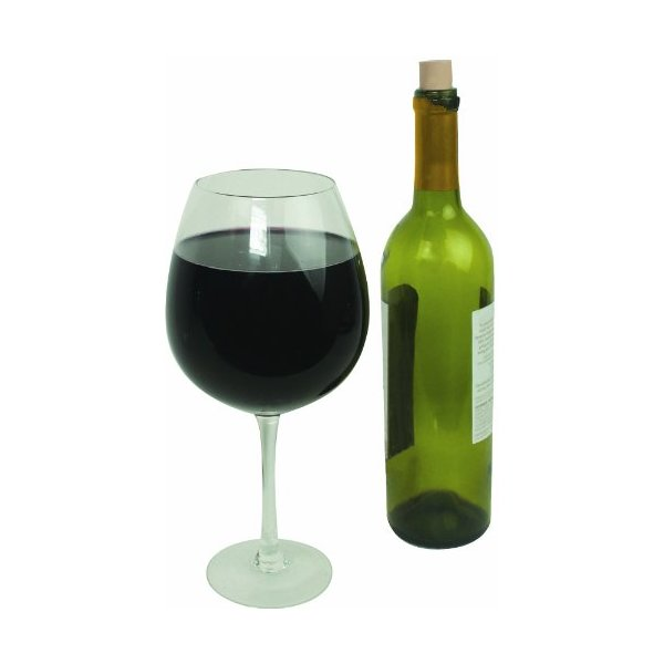 Oversized Extra Large Giant Wine Glass -33.5 oz - Holds a full bottle of wine!