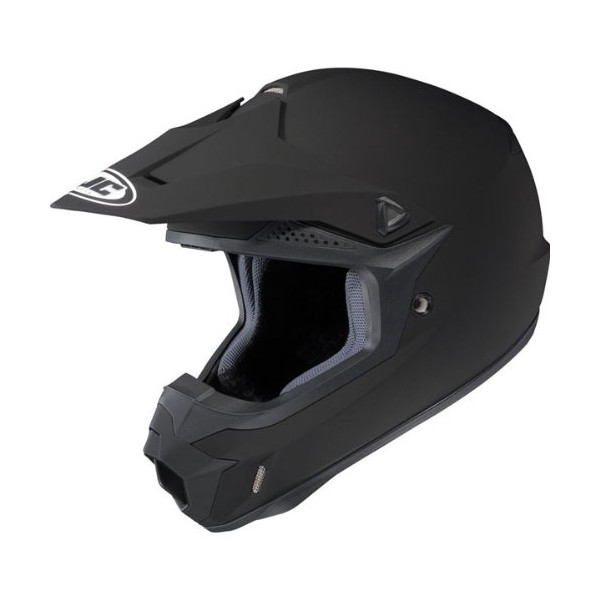 HJC Solid Men's CL-X6 Motocross/Off-Road/Dirt Bike Motorcycle Helmet - Matte Black / X-Large