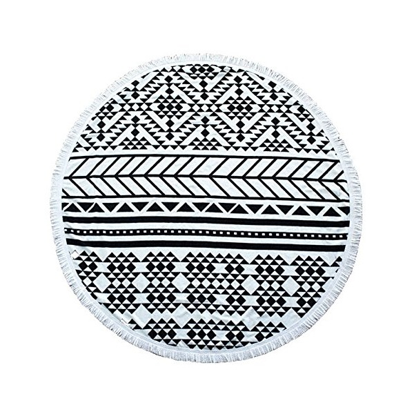 Geometric Round Roundie Beach Throw Towel Yoga Mat Picnic Blanket