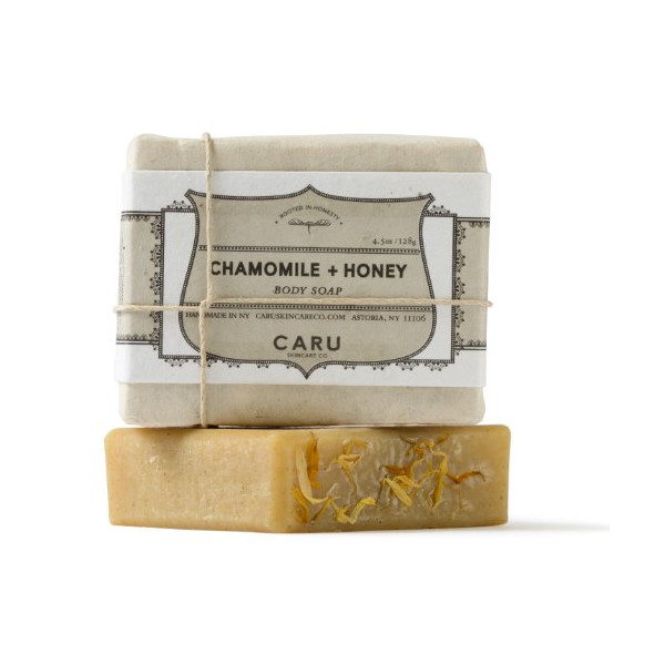 Caru Skincare - Organic Soap Bar - Label Grows Into Flowers! (Chamomile + Honey)