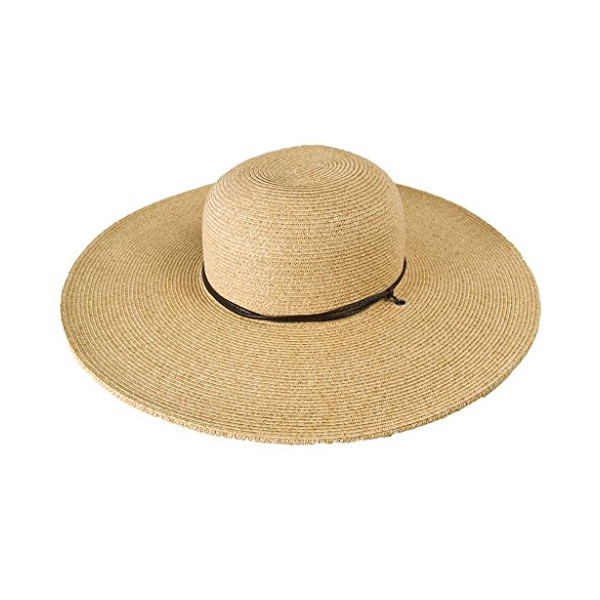 """Garden Hat with leather cord, 5"""" brim, NH71 (Natural)"""