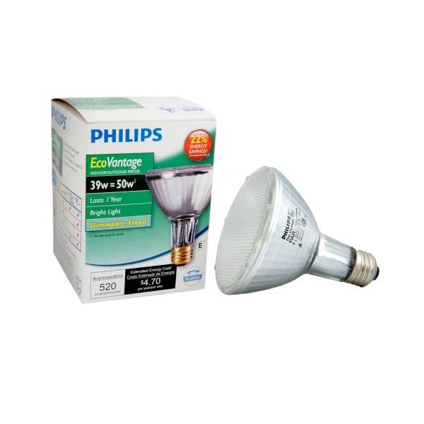 Philips 419747 EcoVantage PAR30L 50 Watt Equivalent 25 Degree Flood Light Bulb