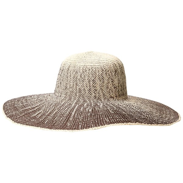 San Diego Hat Women's Ombre Paper Floppy, Brown, One Size