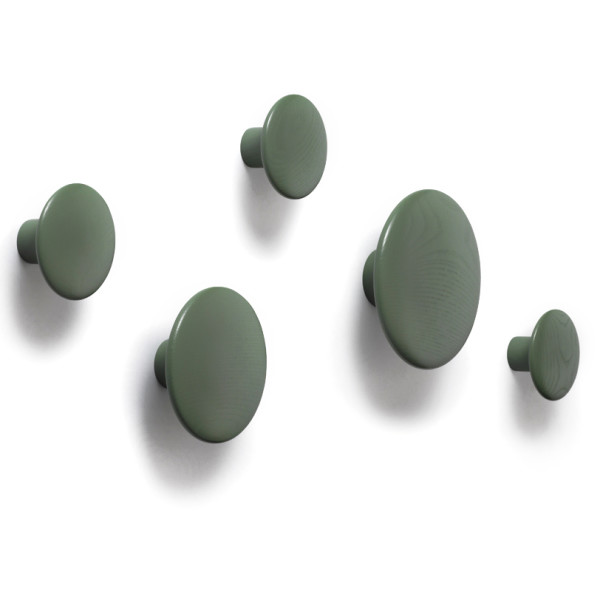The Dots Coat Hooks, Green, Large