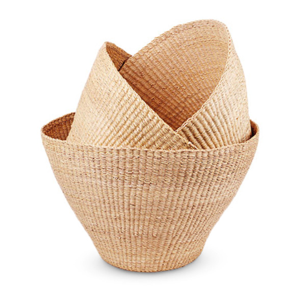 Nesting Bolga Baskets, Made from Elephant Grass