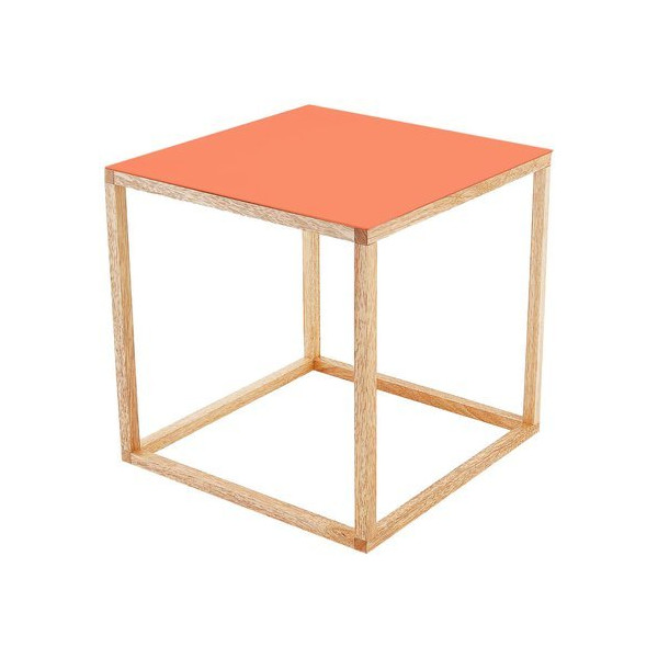 Present Time Leitmotiv Cubo Table, Orange