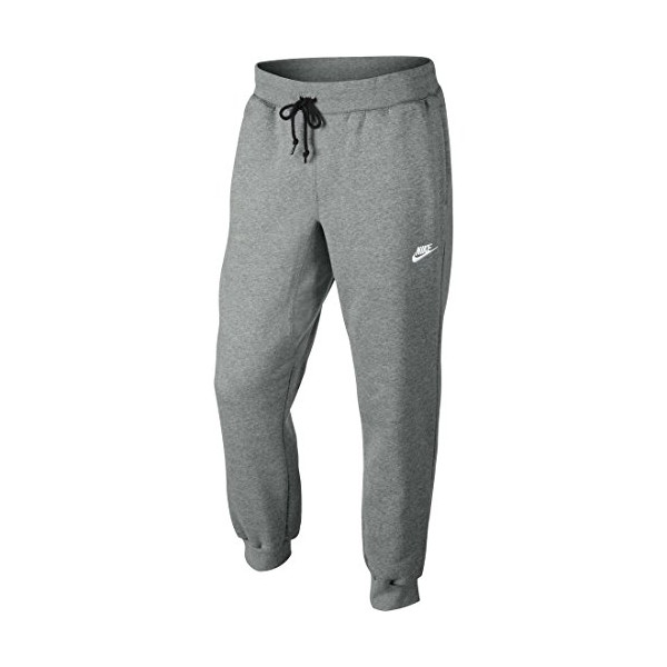 Nike Mens AW77 Cuffed Fleece Sweatpants Dark Grey/White 598871-063 Size Large