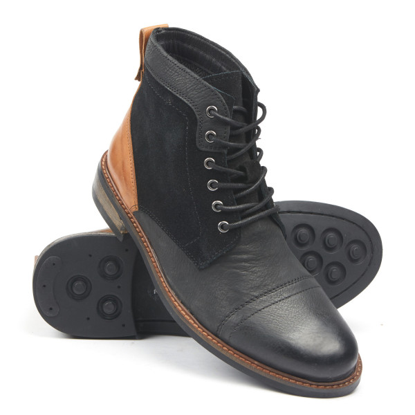 Testosterone Veg Gas Boot, Black/Tan