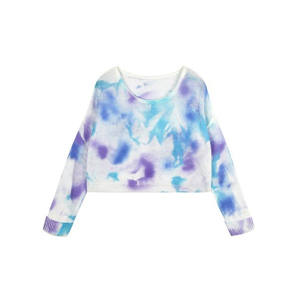 ZLYC Tie Dye Knit Jumper (blue)