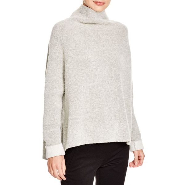 Theory Linella Vela Turtleneck Sweater, Icy Grey