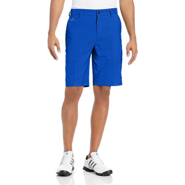 adidas Golf Climalite 3-Stripes Tech Shorts, Vivid Blue/Black, 30-Inch