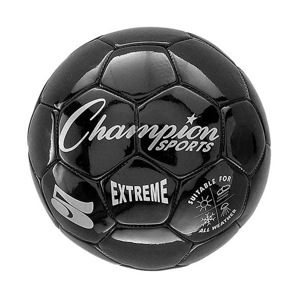 Champion Sports Extreme Series Size 5 Composite Soccer Ball Color: Black (EX5BK)