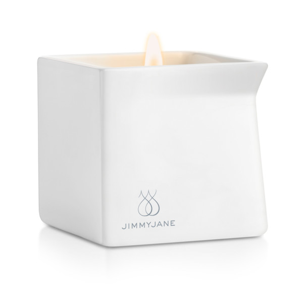 Jimmyjane AFTERGLOW Massage Oil Candle, Lychee Lapsang