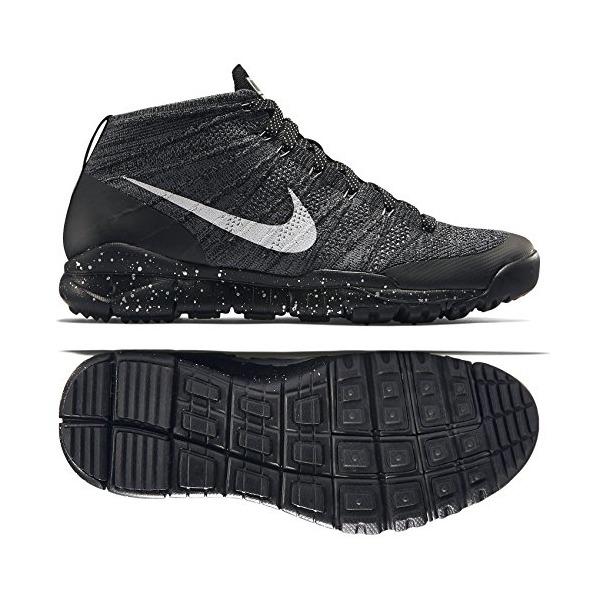 Nike Men's Flyknit Trainer Chukka Fsb Black/Sail/Drk Grey/Lght Chrcl Training Shoe 9.5 Men US