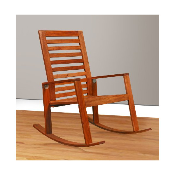 Contemporary Acacia Wood Outdoor/Indoor Rocking Chair