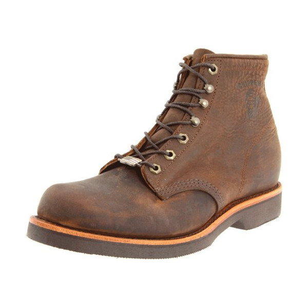 "Chippewa Men's 20065 6"" Rugged Handcrafted Lace-Up Boot,Chocolate Apache,10 D US"