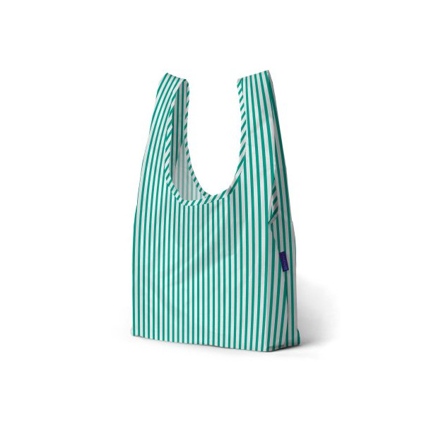 BAGGU Standard Reusable Shopping Bag Mint Stripe
