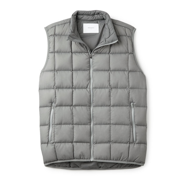 Norse Projects Men's Ivan Down Vest, Storm Grey