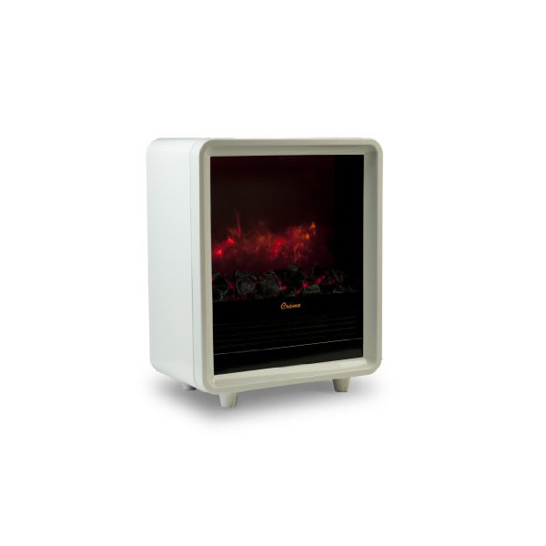 Crane Mini Fireplace Heater, White