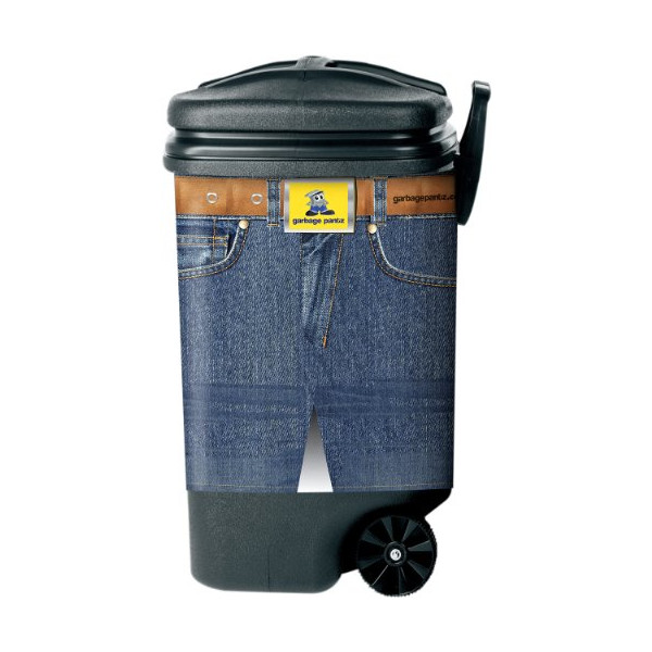 Garbage Pantz GP-BJ Can Cover, Blue Jean Design