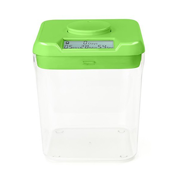Kitchen Safe: Time Locking Container (Green Lid + Clear Base)