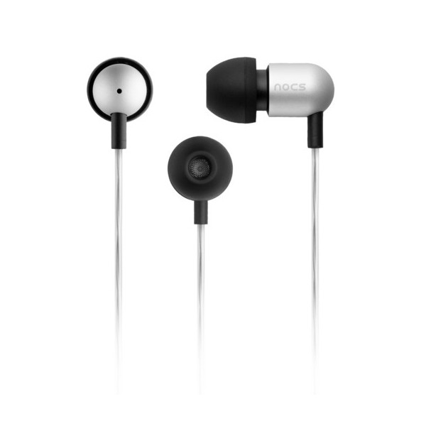 NOCS NS600-011 Earphones with Remote and Mic, Silver