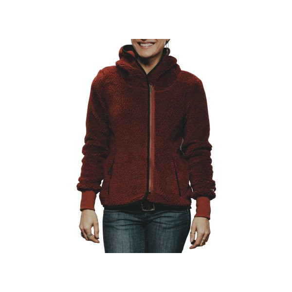 Holden Sherpa Fleece Jacket - Full-Zip - Women's Burnt Henna, M