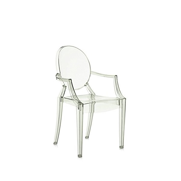 Kartell Louis Ghost Chair - Transparent Crystal Green