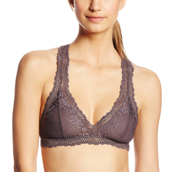 eberjey Women's Colette Raceback Bralet, Pebble, Medium