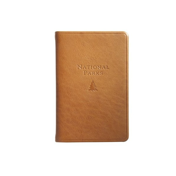 """U.S. National Parks Guide & Journal, Genuine Leather, 5"""""""