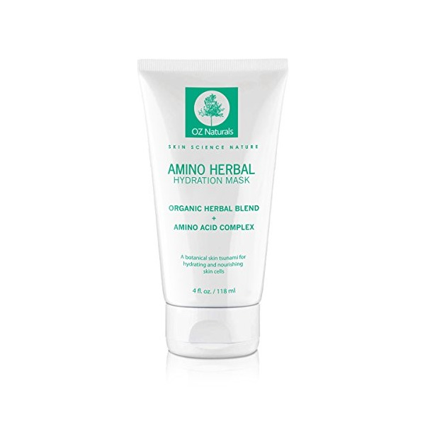 OZ Naturals Facial Mask - The BEST Moisturizing Face Mask Contains Rosehip Oil, Pro Vitamin B5 & Amino Acids - This Anti Aging Face Mask Provides A Hydration Tsunami That Deeply Hydrates & Nourishes Your Skin Cells For That Dewy, Youthful Glow! Results Gu