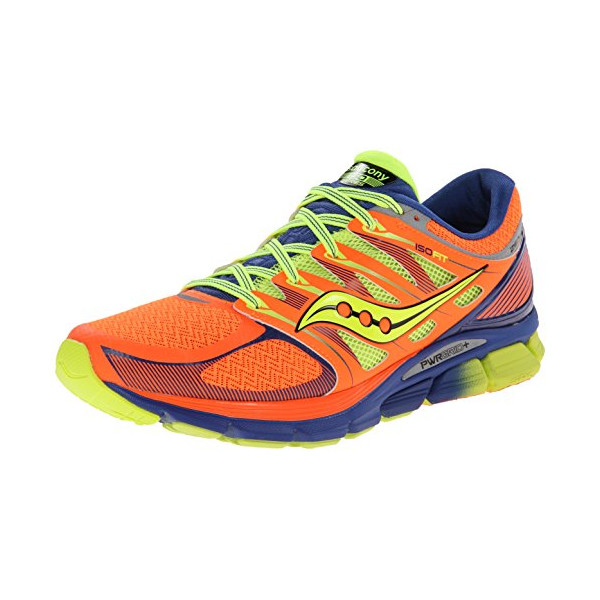 Saucony Men's Zealot-ISO Series Running Shoe,Vizi Orange/Blue/Citron,10 M US