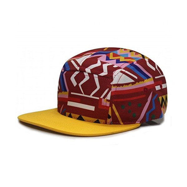 City Hunter Cn340 Fresh Prince 5 Panel Bike Hat (Red/gold )