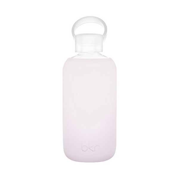 bkr® bottle : bubbly glass water bottle + soft silicone sleeve - 500ml