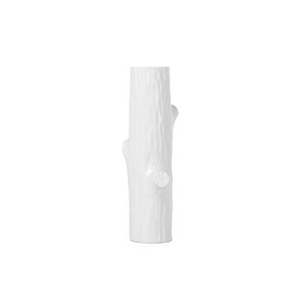 Torre & Tagus Trunk Vase, Short, White