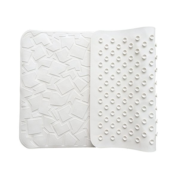 "Non Slip Bathtub Mat with Original GripTight (TM) Technology   Non-Toxic (PVC- & BPA-Free), Anti Bacterial, Latex-Free   High Quality Natural Rubber   28"" x 16"", White"