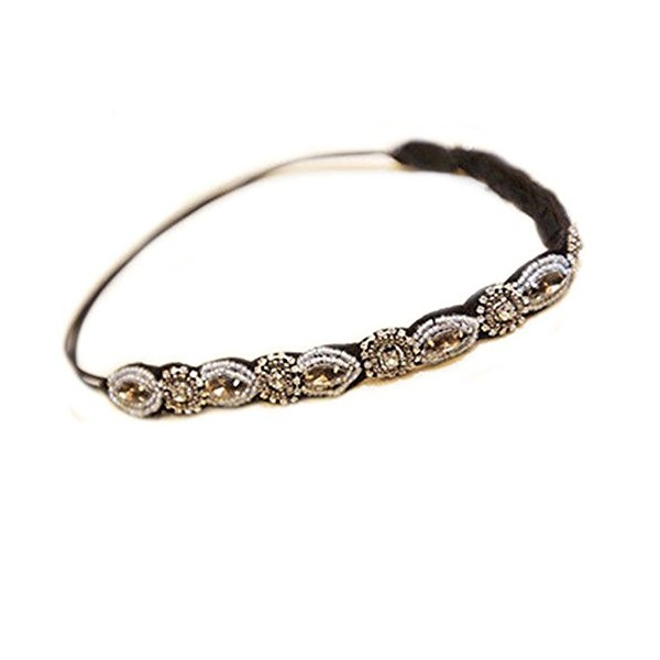 Outop Fashion Women's Crystal Rhinestone Beads Headband Hair Band