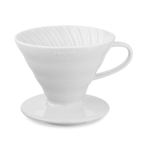 Hario V60 02 Ceramic Coffee Dripper, White