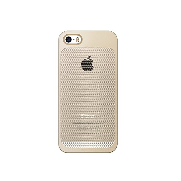 7mm Dieslimest Duo:mesh Gold Hexa Gold Case for Iphone5 / 5s