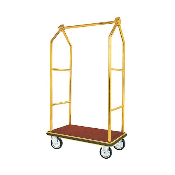 Tall Luggage Cart Finish: Brass